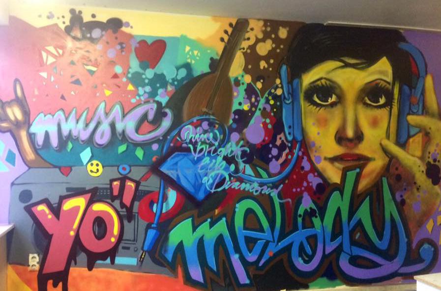 3Graffiti Musikraum Jugendetage55