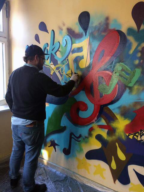 Graffiti Musikraum Jugendetage55