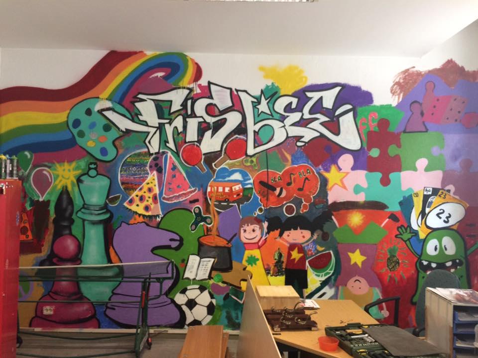 Grafitti frisbee